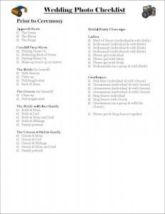 Picture Checklist 1